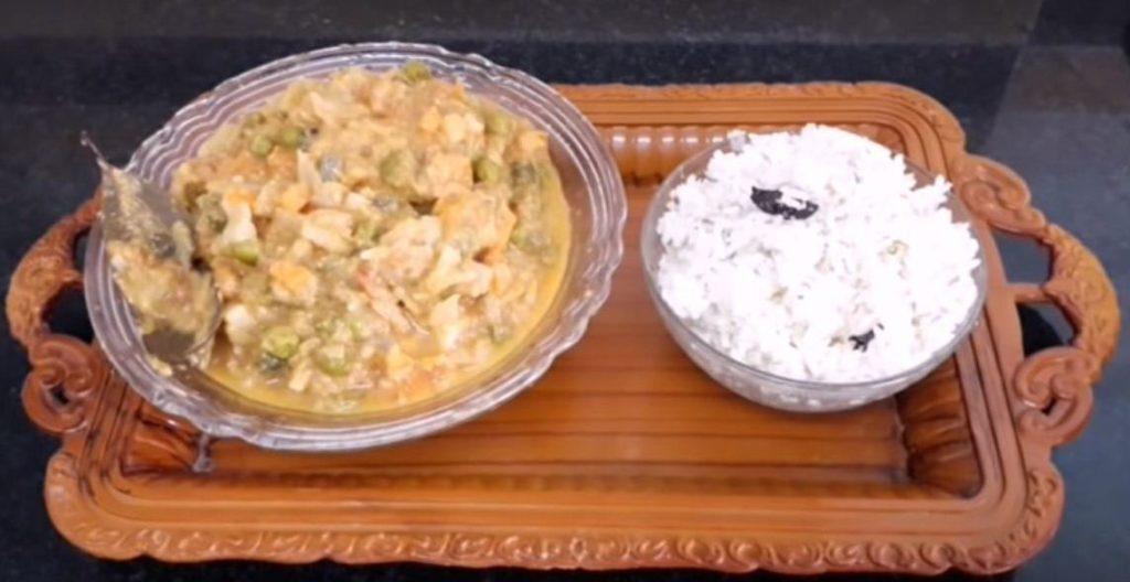 Yummy ghee rice with kurma