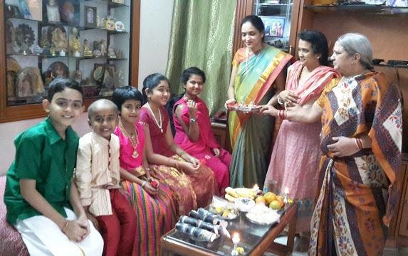 Sankranthi festival- aarathi for children
